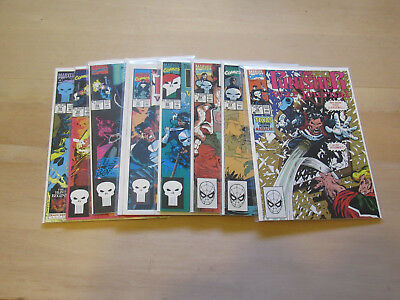 Lot of 8 Punisher War Journal #16, #23, #24, #26, #28 to #30, and #55