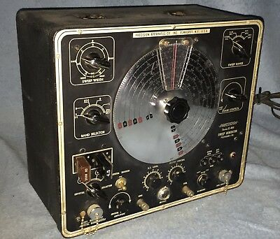 Vtg Precision Test Equipment Series E400 Sweep Generator Television FM Powers On