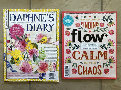 Lot Of New 2017 Flow Magazine Issue 18 & Daphne's Diary 2017 # 4 Magazine