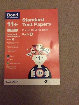 Bond 11+ Standard Test Papers. Pack 1