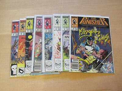 Lot of 8 Punisher #14, #16 to #18, #20 t0 #22 & #24  (Marvel 1989)