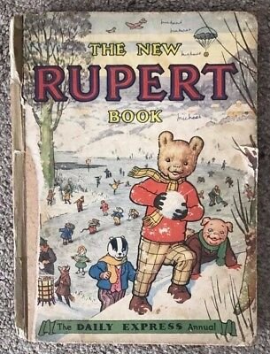 The New Rupert Book Annual - 1951 - Vintage - Daily Express Publication - Rare