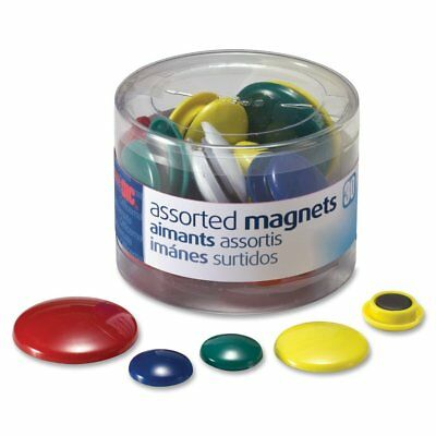 Officemate Magnets, Assorted Sizes and Colors, 30 per Tub 92500