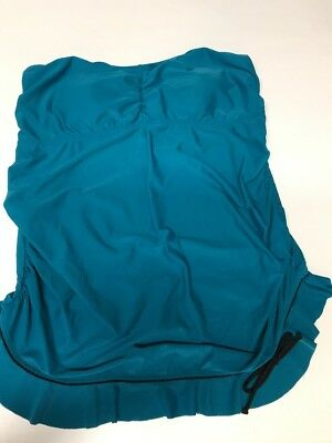 Women's Liz Lange Maternity Swim Tankini Top - Size XL Blue