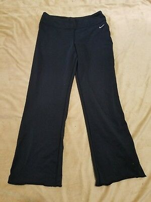 (A) NIKE Women's ATHLETIC Leggings Pants Dri-Fit Black Size LARGE YOGA