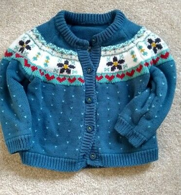 baby girls fairisle knit style cardigan - mothercare -9-12 months
