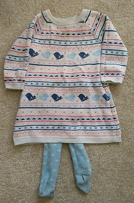baby girls knitted jumper dress - boots mini club - 9-12 months