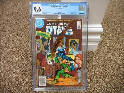 Tales of the Teen Titans 52 cgc 9.6 1st appearance Cheshire 1st Azrael DC 1985