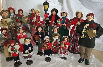 Vintage Victorian Christmas Caroler Holiday Dolls Lot Of 17