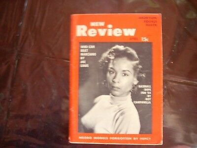 Rare New review April 1954 Nat King Cole back cover. Free shipping No reserve