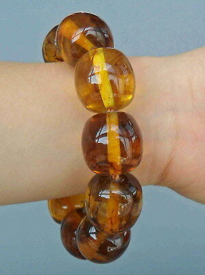Collectible Handmade Decoration Fine Amber Crafted Round Bead Beautiful Bracelet