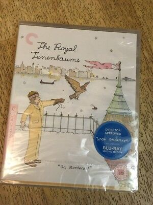 The Royal Tenenbaums Blu Ray - Criterion Collection New