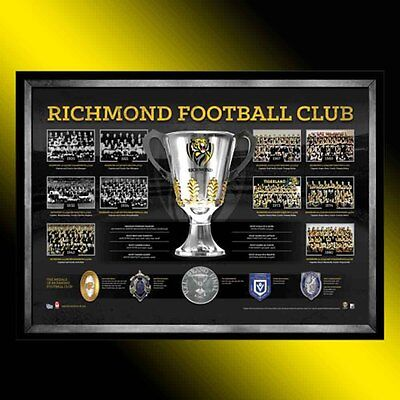 The Premiership History Richmond Tigers Official Afl Premiers Framed Print Hart