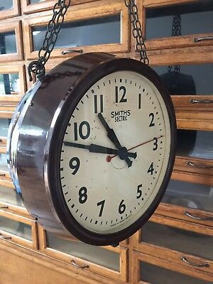 Double Sided Clock Smiths Sectric Railway School Factory