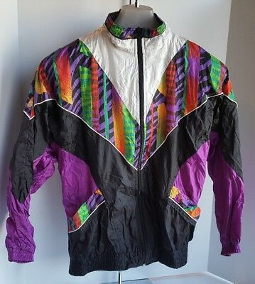 90s Vintage Unisex Bold Spirit Full Zip jacket windbreaker size Medium