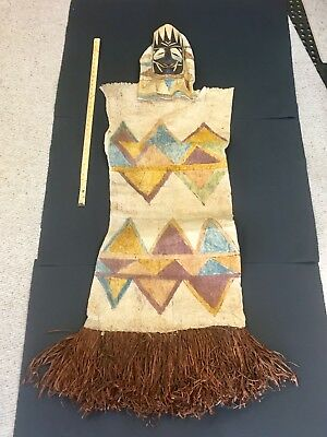 Tikuna Indian Purbery Ceremonial Dress And Mask