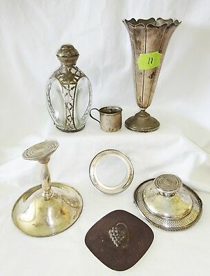 7x US/ Mexican/ Denmark Sterling Silver Mixed Scrap Lot by various makers (Yir)