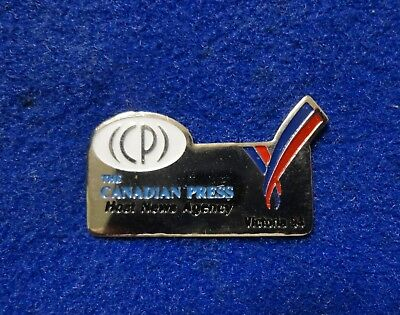 The CP Canadian Press News Agency Newspaper Commonwealth Games Media Lapel Pin