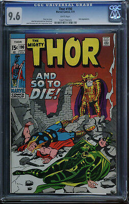 Thor #190 CGC 9.6 White 7/71 Odin and Hela appearance!