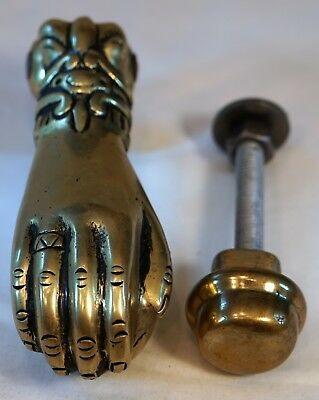 Antique style, vintage, brass, ball in hand door knocker