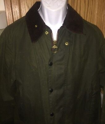 Barbour Classic Beaufort Men's Waxed Jacket Olive - Size 44