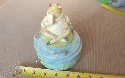 Vintage 1985 Schmid Jeremy Fisher Beatrix Potter Music Box Frog