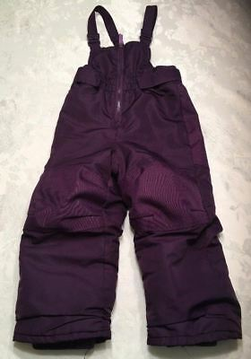 Cherokee Bib Snow Pants Size 3T Girls Purple Toddler Snowpants