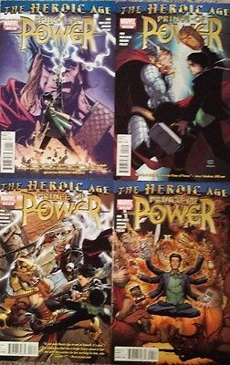 Heroic Age Prince of Power #1 2 3 4 Marvel Avengers Comic Book Set 1-4 THOR