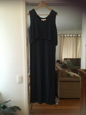 ripe Maternity/Breastfeeding Dress Blue Size M