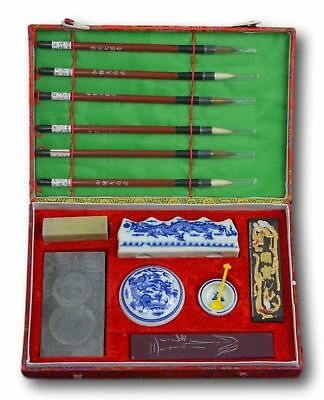 Chinese Calligraphy Brush Writing Painting Sumi Set(14 Items) Festcool