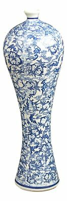 Blue and White Floral Porcelain Vase, China Vase, Decorative Vase, Jingdezhen...