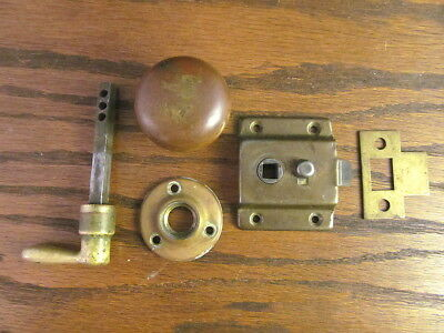 Vintage Original Screen & Storm Door Latch  Rim Lock Handle Hardware knob catch