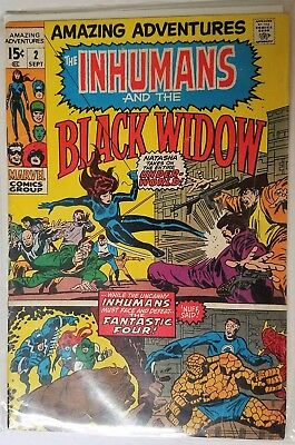 Amazing Adventures # 2 The Inhumans And Black Widow Silver Age V/g+