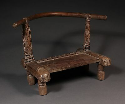 "African Chair, Antique tribal chair 14""X 10.5"""