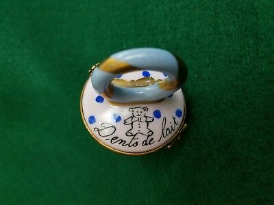 Limoges Baby Pacifier Hinged Trinket Box