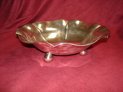 Beautiful Juventino Lopez Reyes Sterling Silver Modernist Large Center Bowl