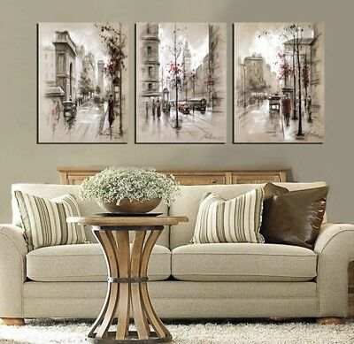 3-Piece Set Oil On Canvas Painting Abstract Wall Art Large Modern unframed