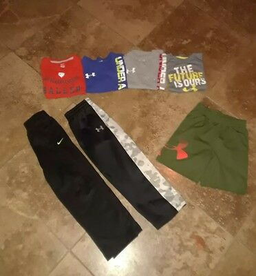 Boys Under Armour Nike T Shirts Pants Shorts Size 5 6