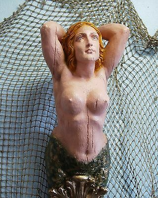 Large Mermaid Ships Figurehead Nautical Decor Folk Art