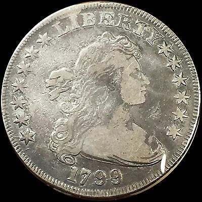 1799 Drapped Bust Silver Dollar $1 **VF/XF *HUGE KEY DATE --LOW MINTAGE