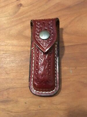 Wegner Swiss Army Knife With Leather Belt Sheath NM