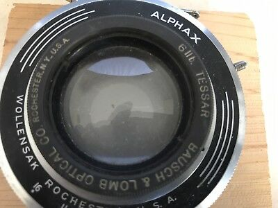 Bausch And Lomb 6 Inch? Lens In Alphax Shutter