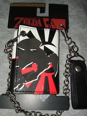 New The Legend Of Zelda Dark Shadow Link Triforce NES Tri Fold Wallet And Chain