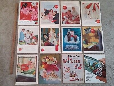 Vintage Coke Coca-Cola Print Ads (lot b) 12 Pages/Covers from LIFE Magazines