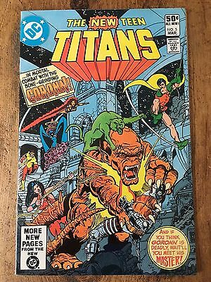 DC THE NEW TEEN TITANS #5 Swan 1981 VF+ Vintage 1st Appearance of Trigon KEY