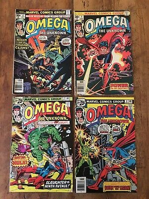Omega The Unknown 4 Issue Comic Lot Marvel 1976 #2 #3 #4 #5 Hulk COMBINE SALE