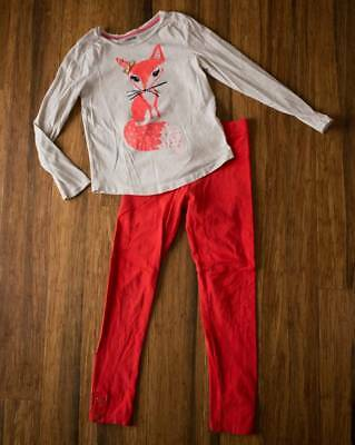 Gymboree Girls Size 7 Fox Shirt & Leggings 7-8 Girl Fall Clothes Lot Outfit