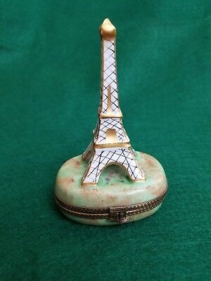 Limoges Eiffel Tower Hinged Trinket Box