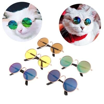 New Fashion Small Pet Cat Dog Sunglasses UV Protection Eyewear Photos Props Cool