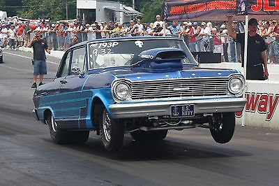 1965 Chevrolet Chevy Ii Nova Sb2.2 Sbc Street Outlaws Nhra 9 Second Drag Car